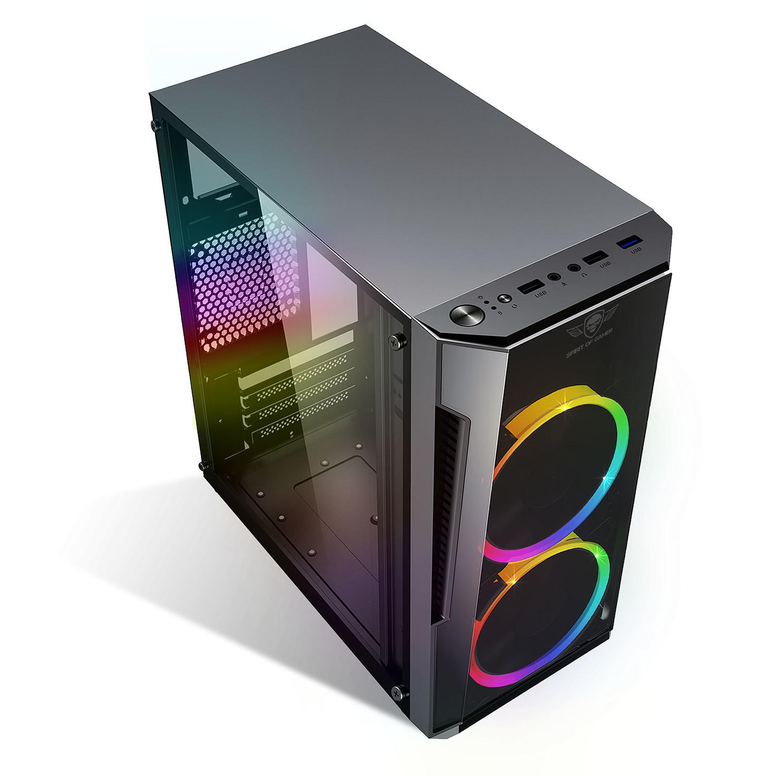Boitier PC Micro-ATX, Mini-ITX Spirit of Gamer Deathmatch 3 ARGB Edition avec fenêtre sans alim, informatique ile de la Réunion 974