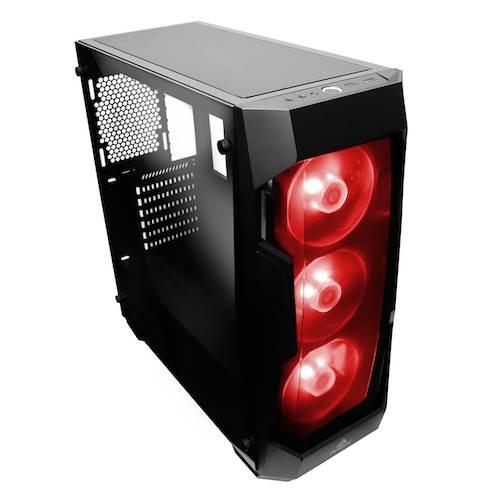 Boitier PC ATX, Micro-ATX, Mini-ITX, Antec DF500 RGB moyen tour noir avec fenêtre sans alim, informatique ile de la Réunion 974