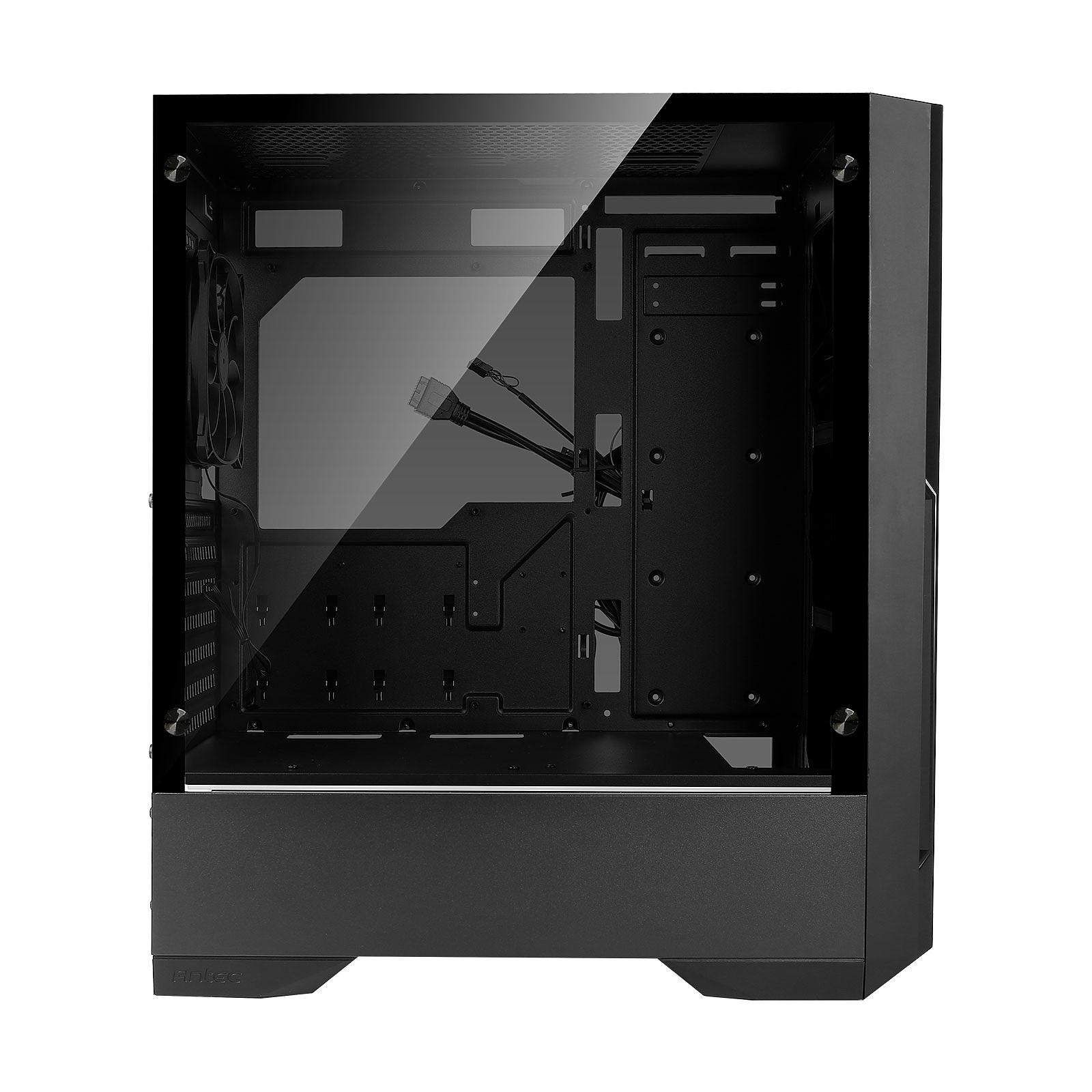 Boitier PC ATX, Micro-ATX, Mini-ITX, Antec DP501 moyen tour noir avec fenêtre sans alim, informatique ile de la Réunion 974