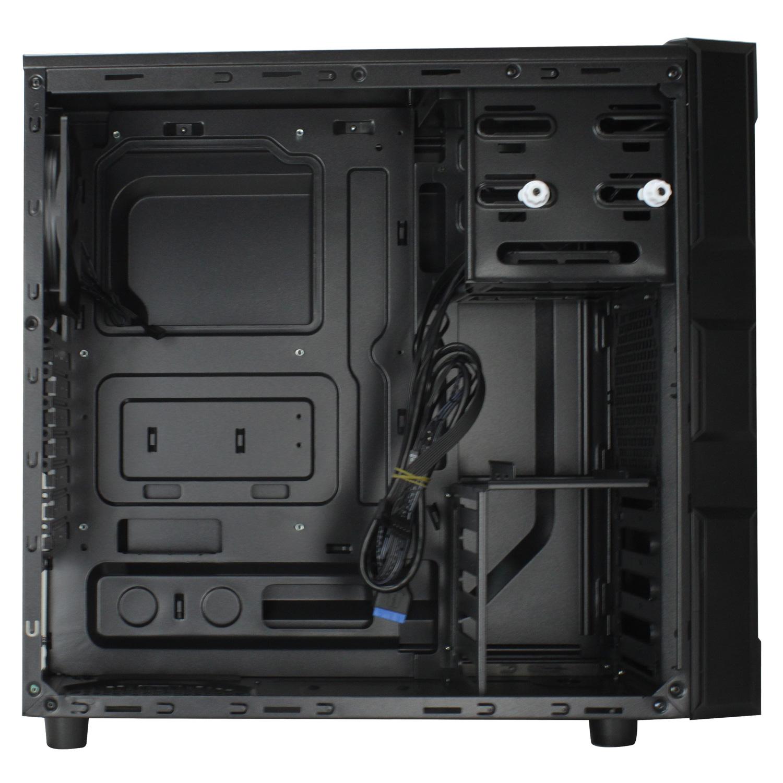 Boitier PC Antec GX200 Bleu moyen tour noir avec fenêtre sans alim, informatique ile de la Réunion 974