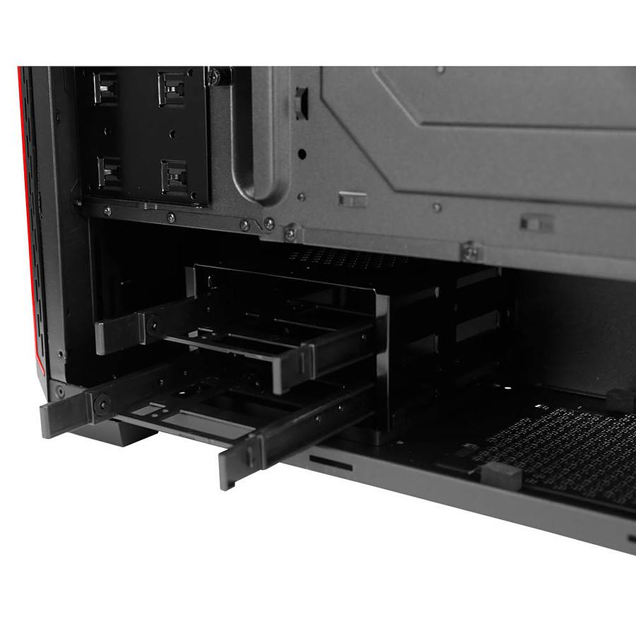 Boitier PC ATX, Micro-ATX, Mini-ITX, Antec P7 Red moyen tour noir avec fenêtre sans alim, informatique ile de la Réunion 974