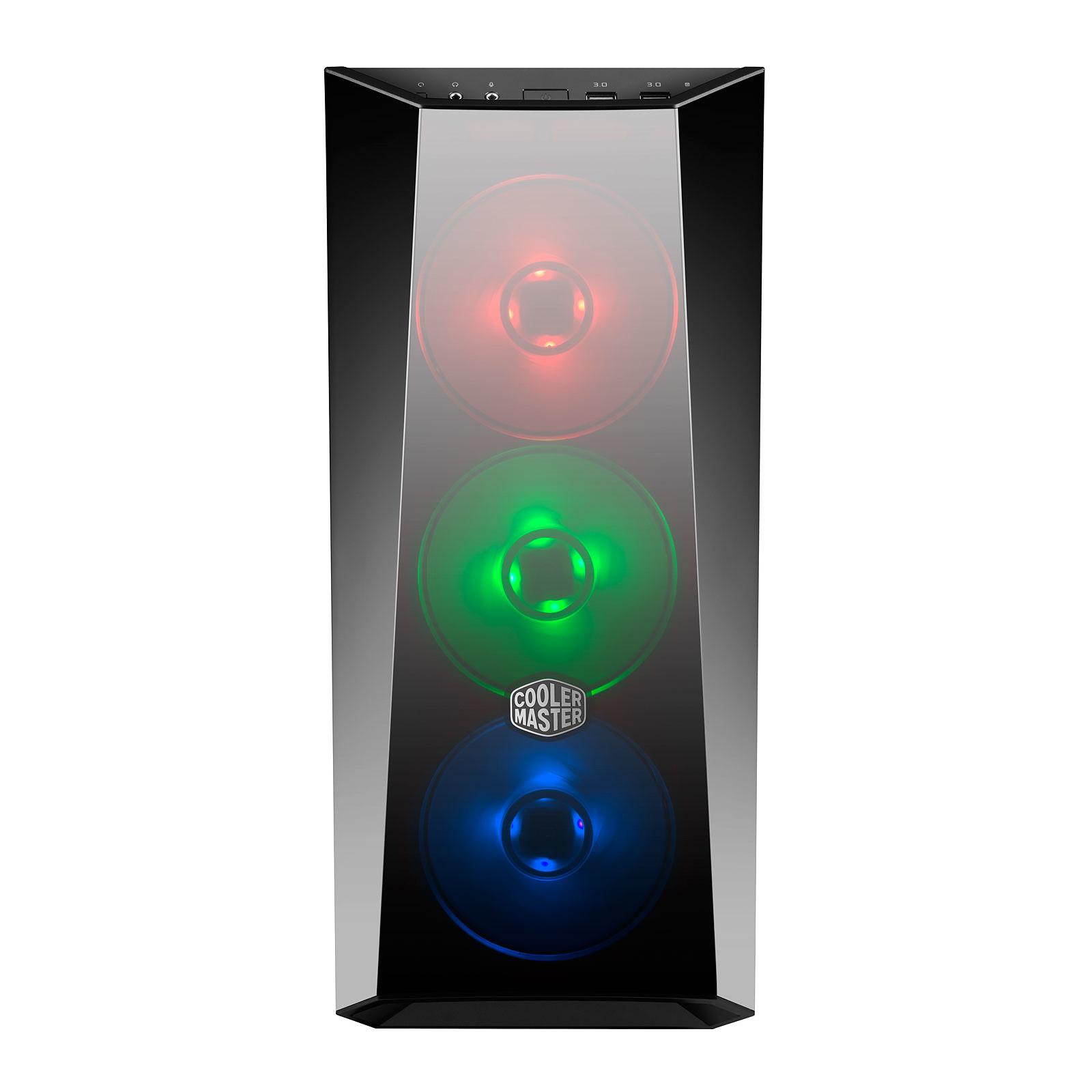 Boitier PC ATX, Micro-ATX, Mini-ITX Cooler Master MasterBox Lite 5 RGB avec fenêtre sans alim, informatique ile reunion, informatique reunion 974