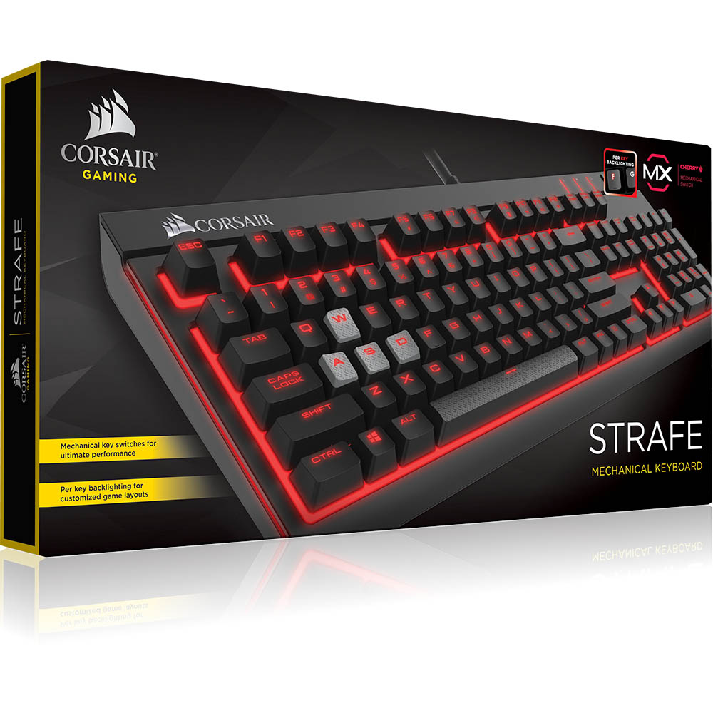 Clavier mécanique Corsair Strafe à switches MX marrons pour gamer AZERTY, Français), informatique ile reunion, informatique reunion 974